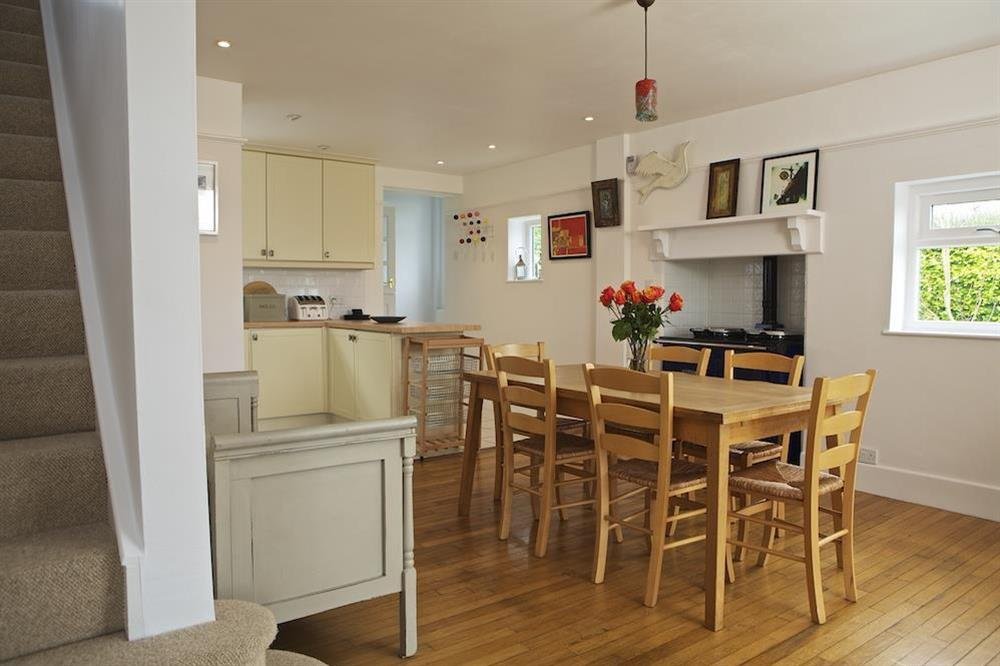 Kitchen/dining room with Rayburn at Seaway House in , Strete