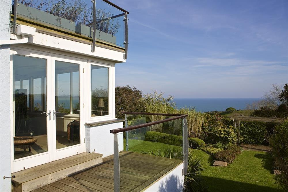 Magnificent views from the balcony towards Start Bay at Seaway House in , Strete