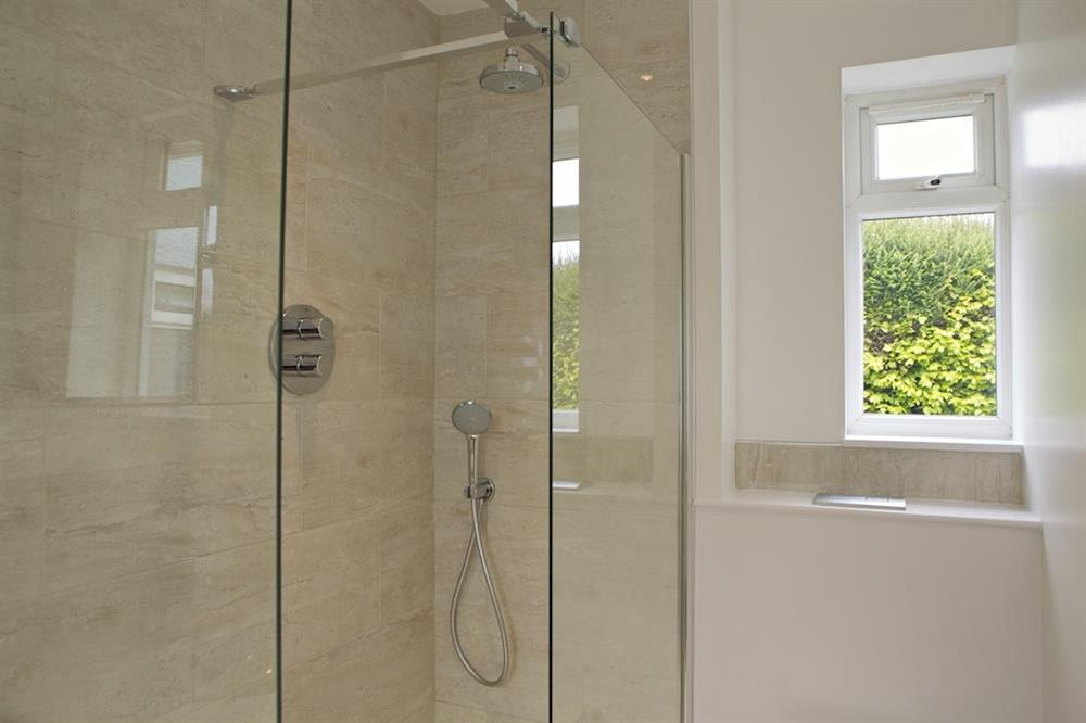 Newly refurbished shower room on ground floor at Seaway House in , Strete