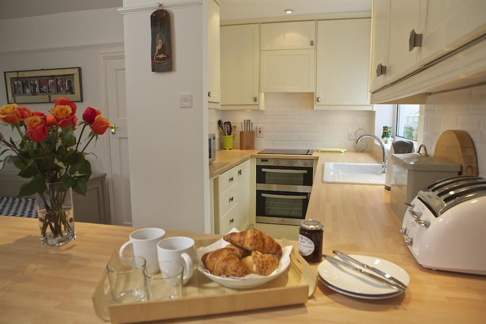 Shaker style kitchen at Seaway House in , Strete