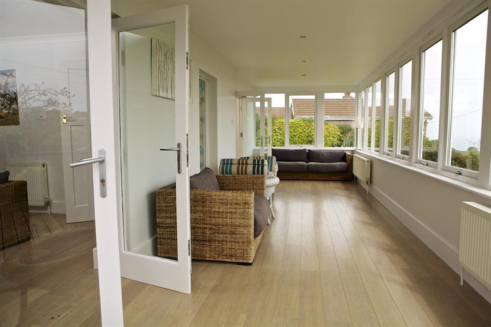 Very spacious sunroom with stunning views at Seaway House in , Strete