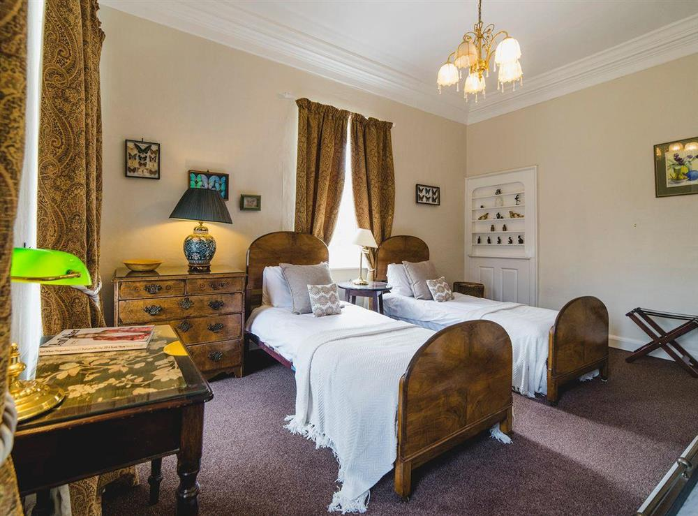 Characterful twin bedroom at The Sedgeford Hall,