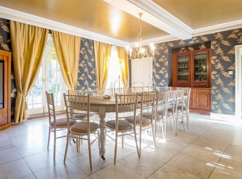 Elegant dining room at The Sedgeford Hall,