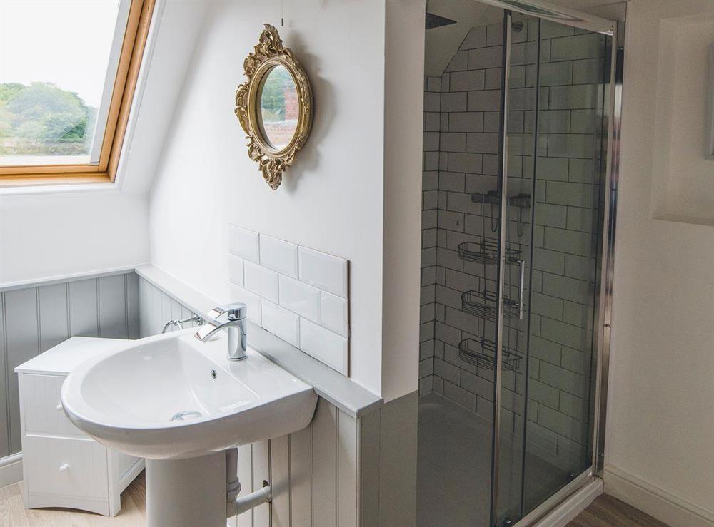 En-suite shower room at The Sedgeford Hall,
