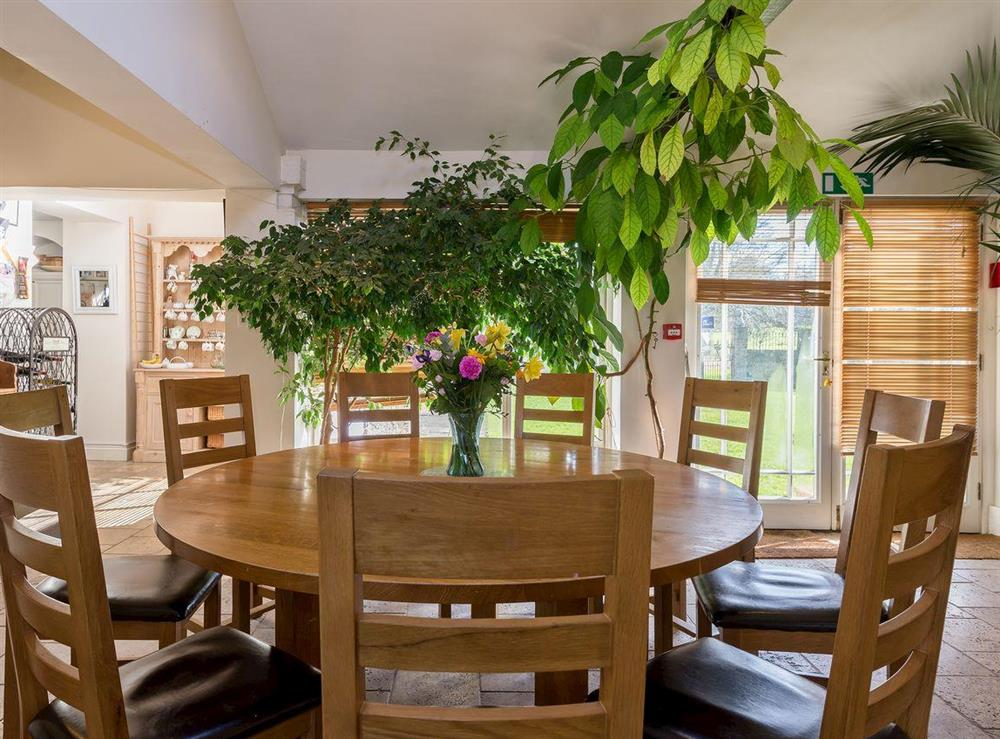 Kitchen dining area at The Sedgeford Hall,
