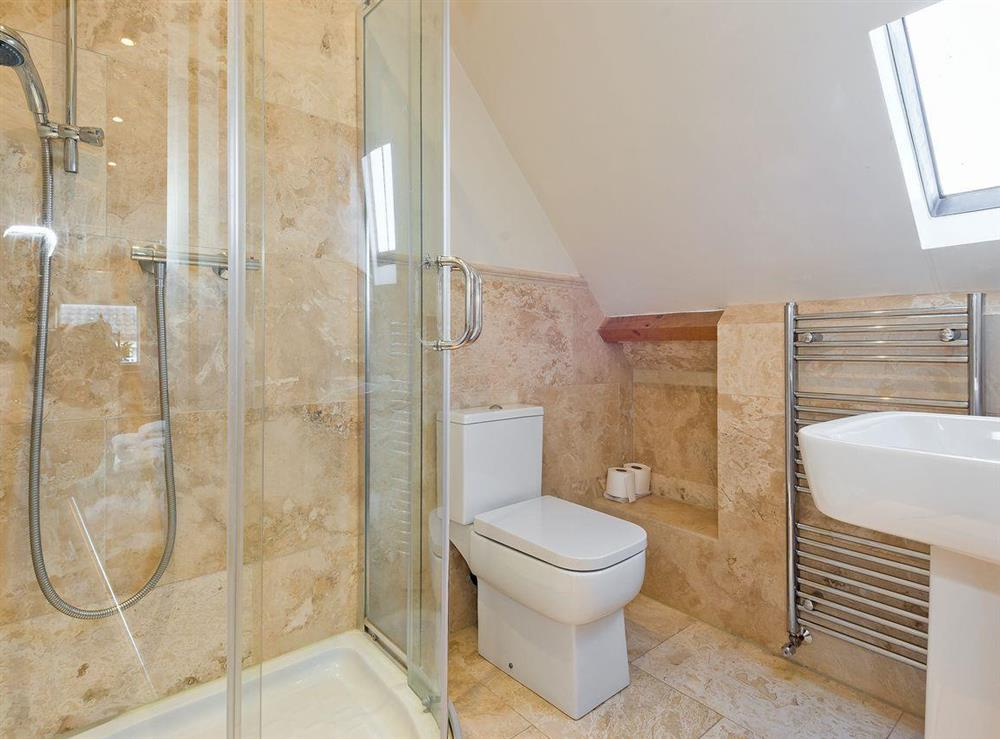 Shower room at The Sedgeford Hall,