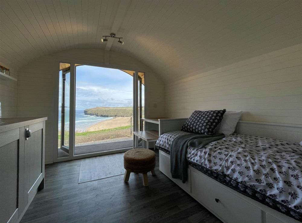 Interior at Selkie Pod in Strathy Bay, near Thurso, Caithness