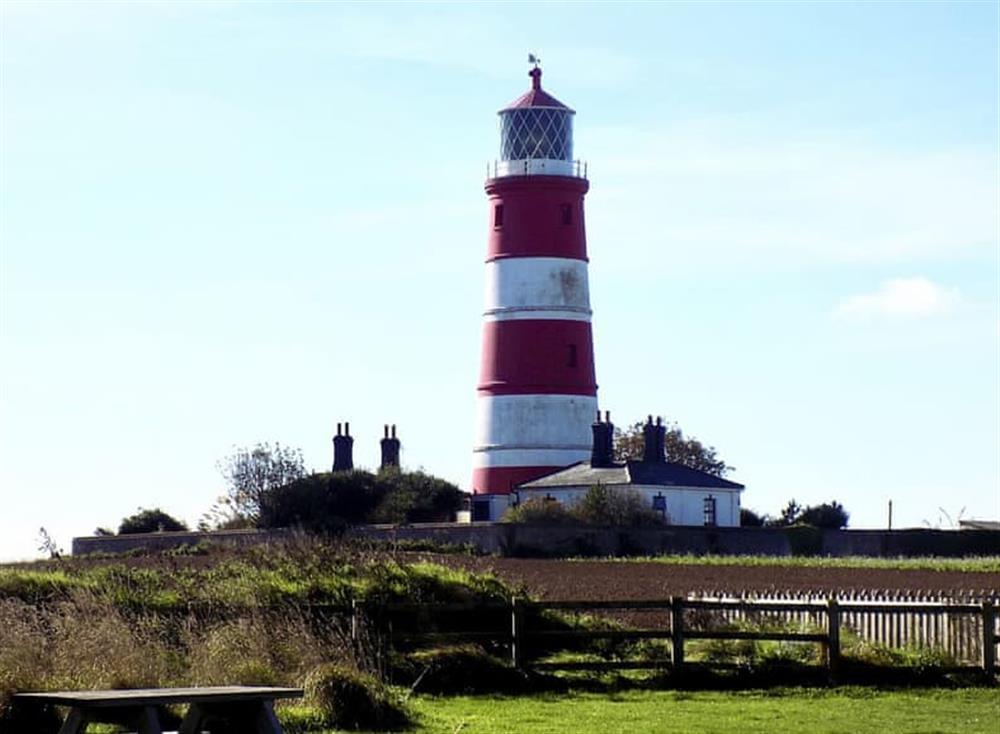 The striking Happisburgh lighthouse