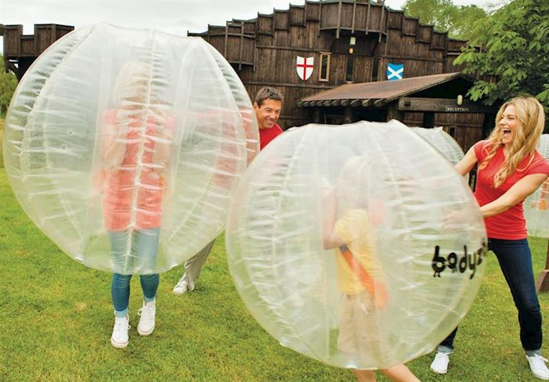 Body Zorbs at Sherwood Castle Holiday Forest in Nottinghamshire, Heart of England
