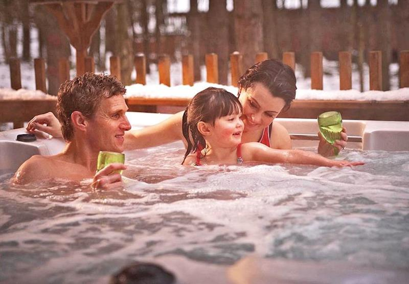Typical hot tub at Sherwood Forest Lodges in Sherwood Forest, Nr Edwinstowe, Nottinghamshire