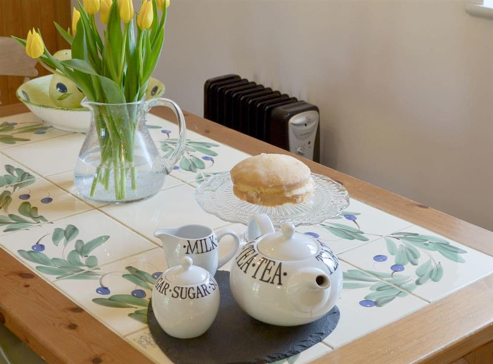 Dining area at Shires Loft in Whitchurch, Shropshire