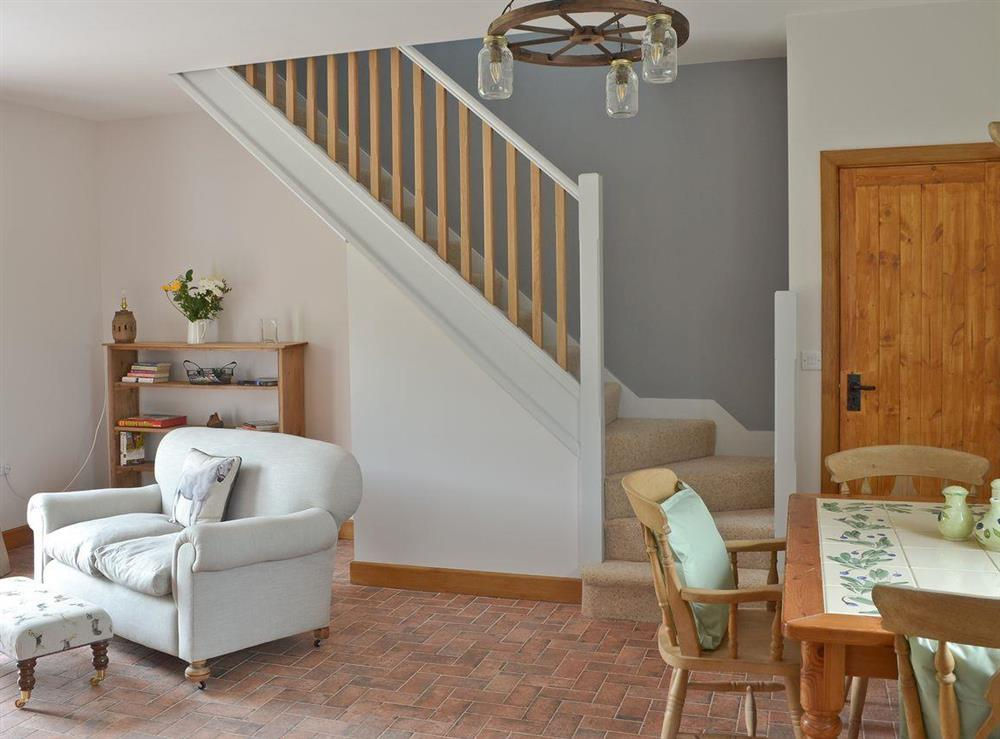 Living room with dining area at Shires Loft in Whitchurch, Shropshire