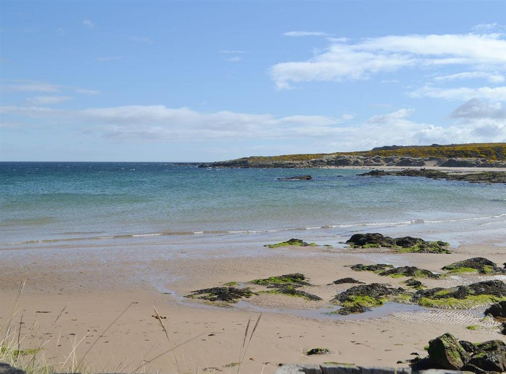 Stunning local beach at Shoemakers Steading in Hopeman, near Elgin, Highlands, Morayshire