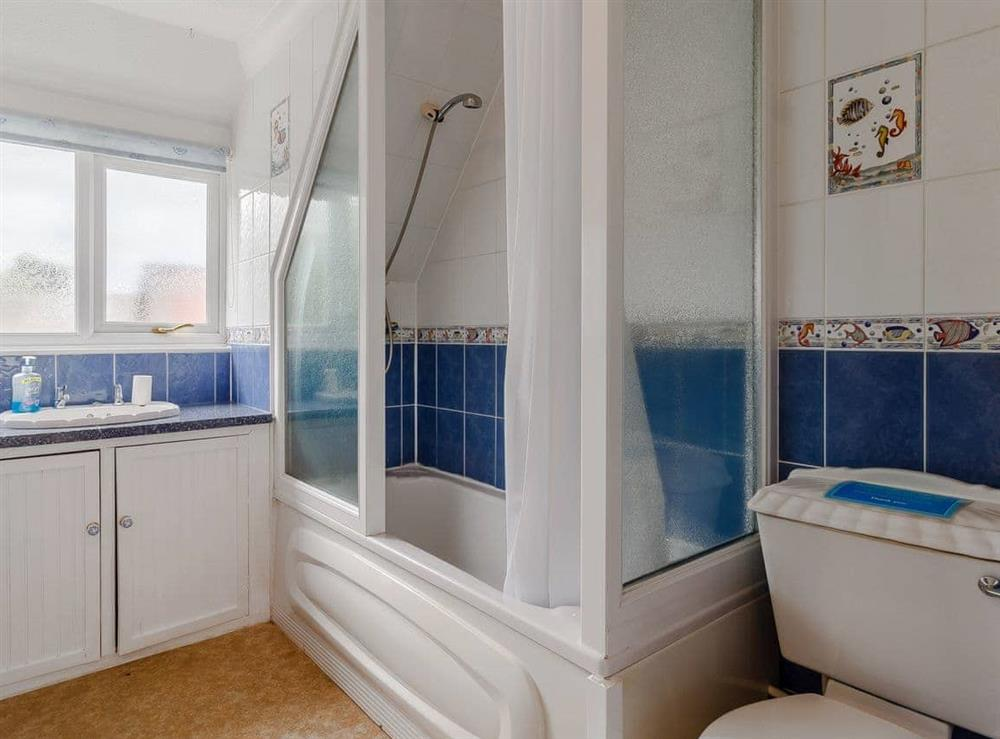 Bathroom at Silver Waters in Hoveton, Norwich, Norfolk., Great Britain