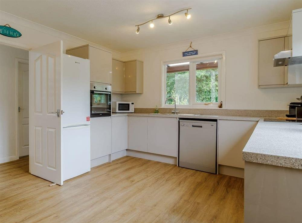 Kitchen at Silver Waters in Hoveton, Norwich, Norfolk., Great Britain