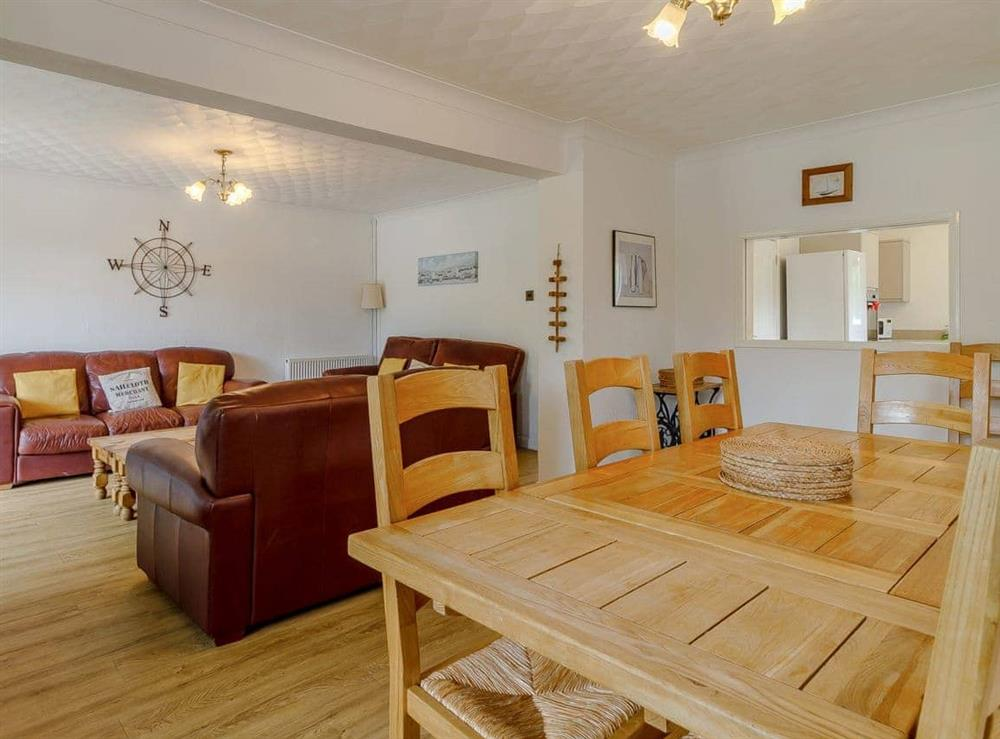 Living room/dining room at Silver Waters in Hoveton, Norwich, Norfolk., Great Britain