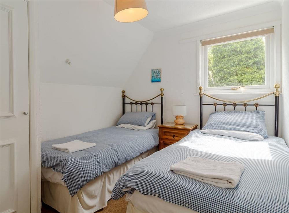 Twin bedroom at Silver Waters in Hoveton, Norwich, Norfolk., Great Britain