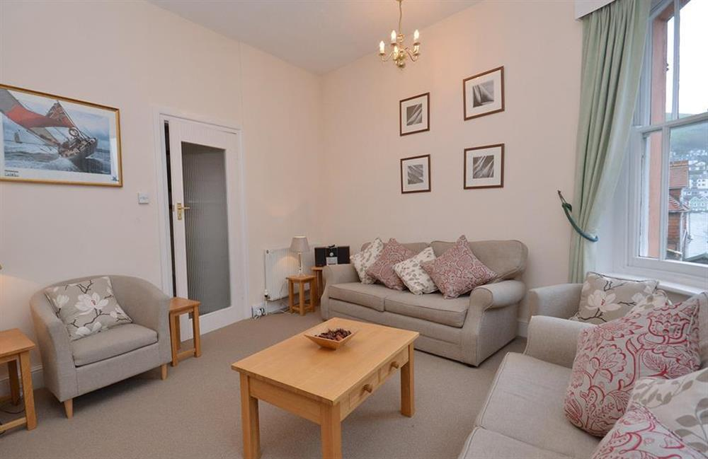 Another view of the comfortable lounge at Slipway House, Dartmouth