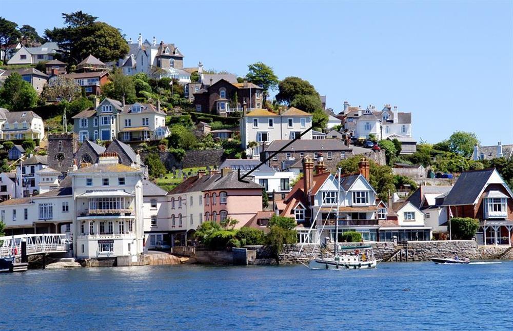 Slipway House (as arrowed) enjoys a lovely waterside location in Kingswear at Slipway House, Dartmouth