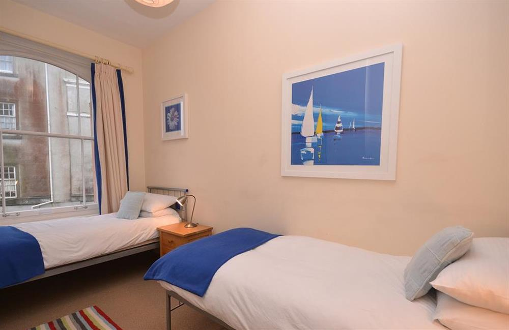 The first floor twin room at Slipway House, Dartmouth