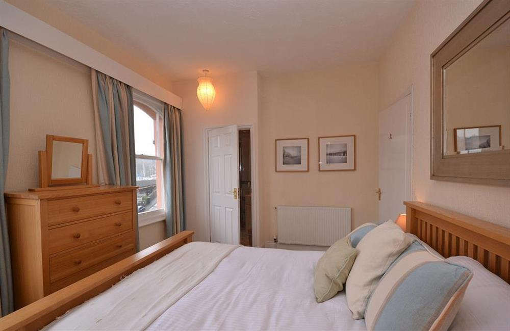 The master bedroom at Slipway House, Dartmouth