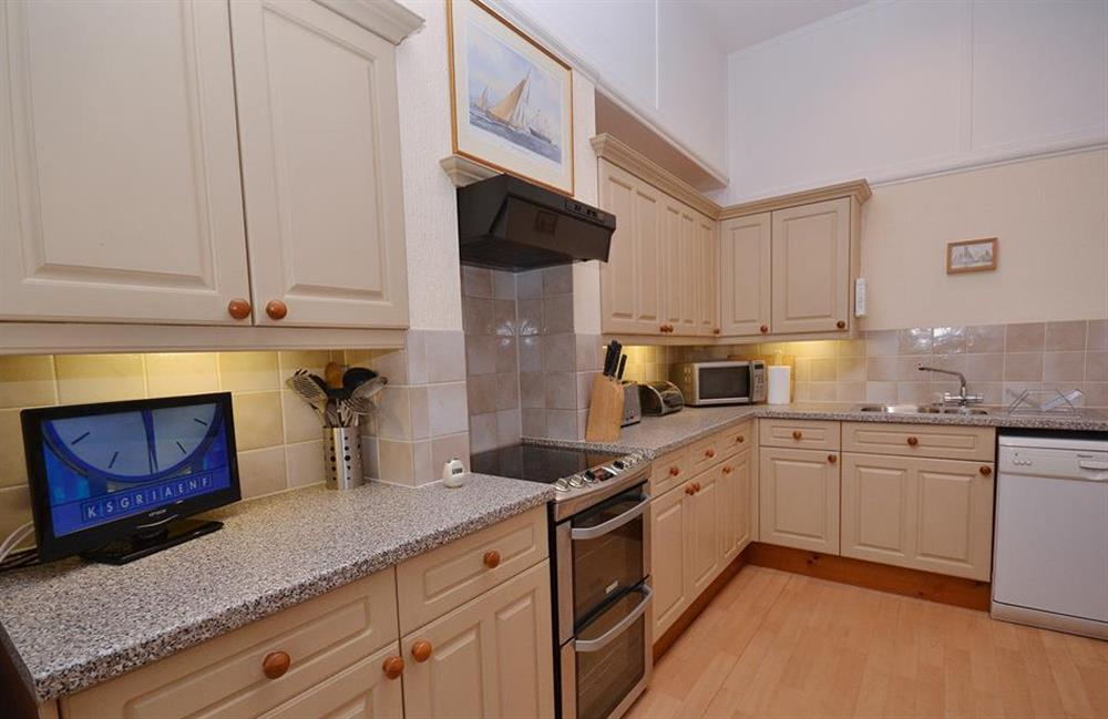 The modern and well equipped kitchen at Slipway House, Dartmouth