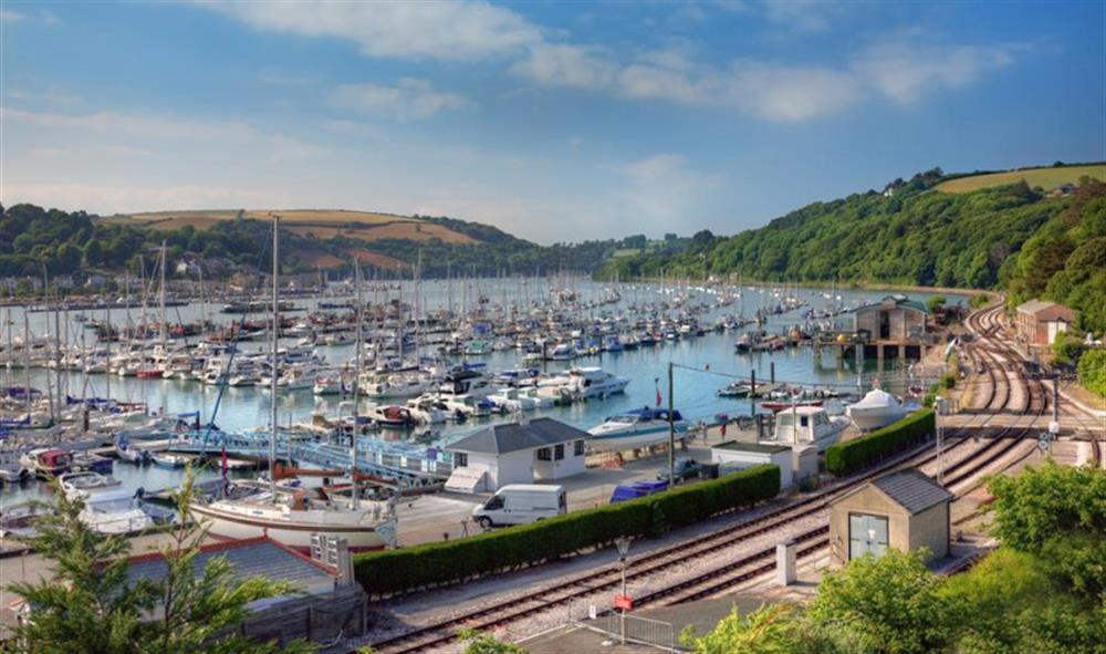 Views over Kingswear marina at Slipway House, Dartmouth