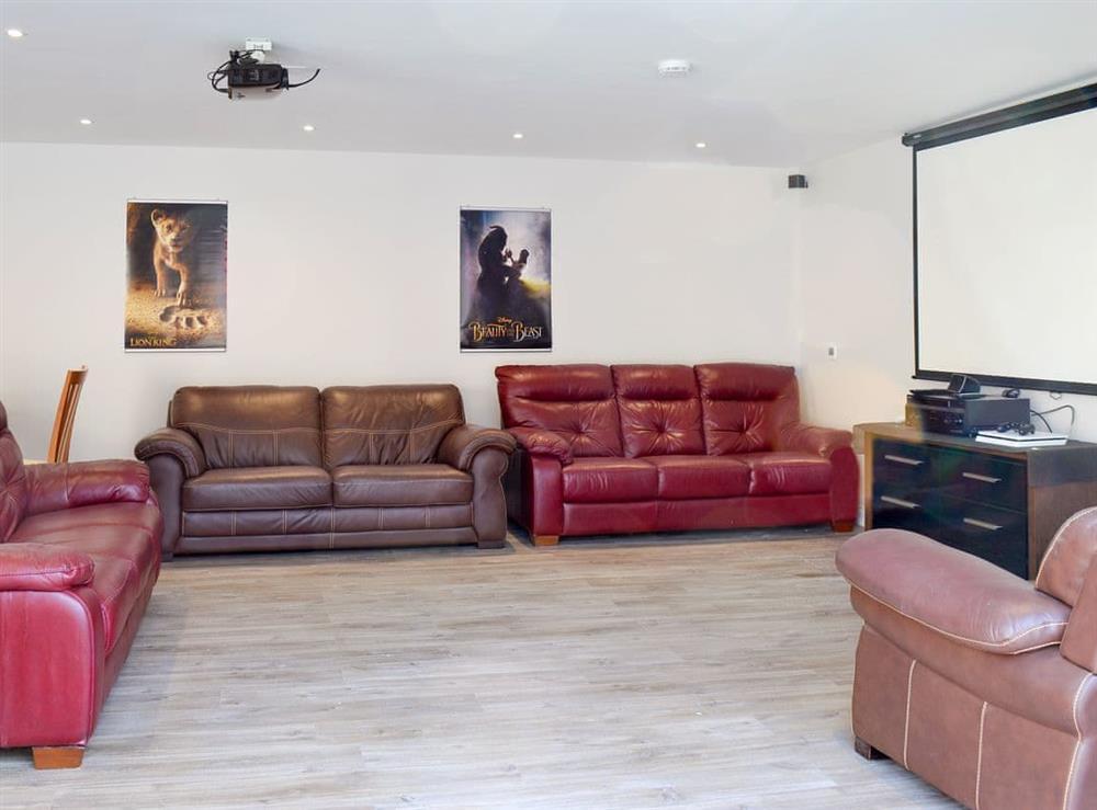 Cinema room at Smithfield House in Tarbolton, near Ayr, Ayrshire