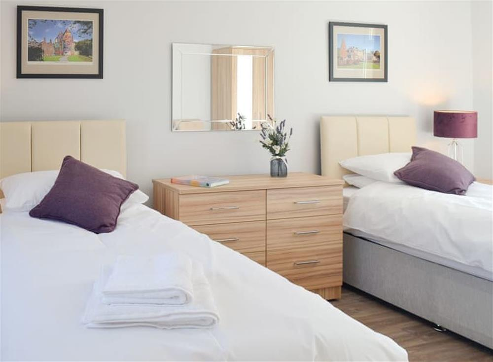Comfy twin bedroom at Smithfield House in Tarbolton, near Ayr, Ayrshire