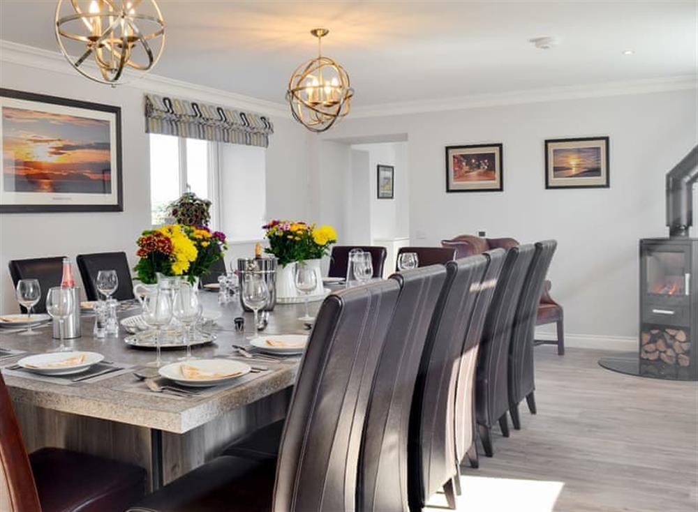Elegant dining room at Smithfield House in Tarbolton, near Ayr, Ayrshire