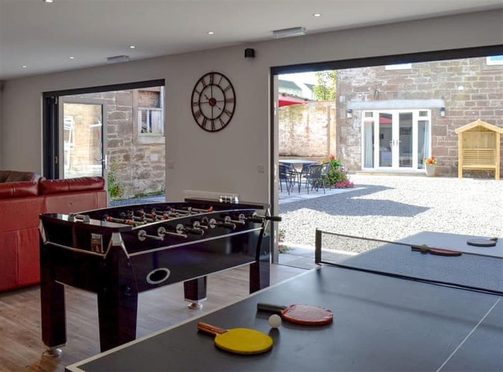 Entertaining games room at Smithfield House in Tarbolton, near Ayr, Ayrshire