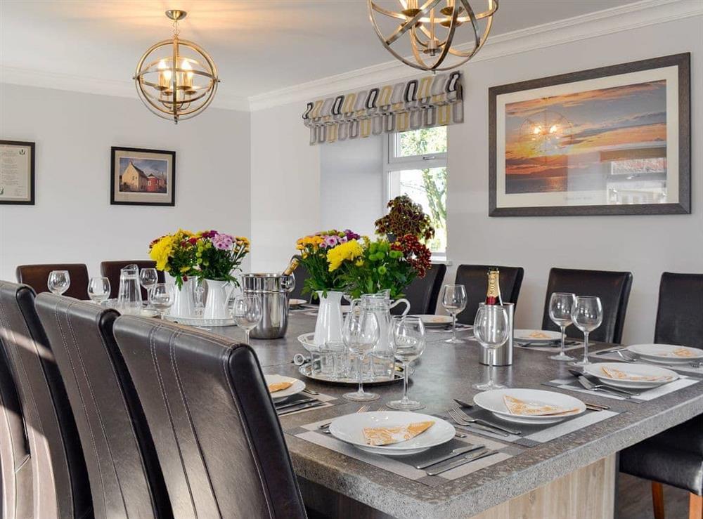 Stunning dining room at Smithfield House in Tarbolton, near Ayr, Ayrshire