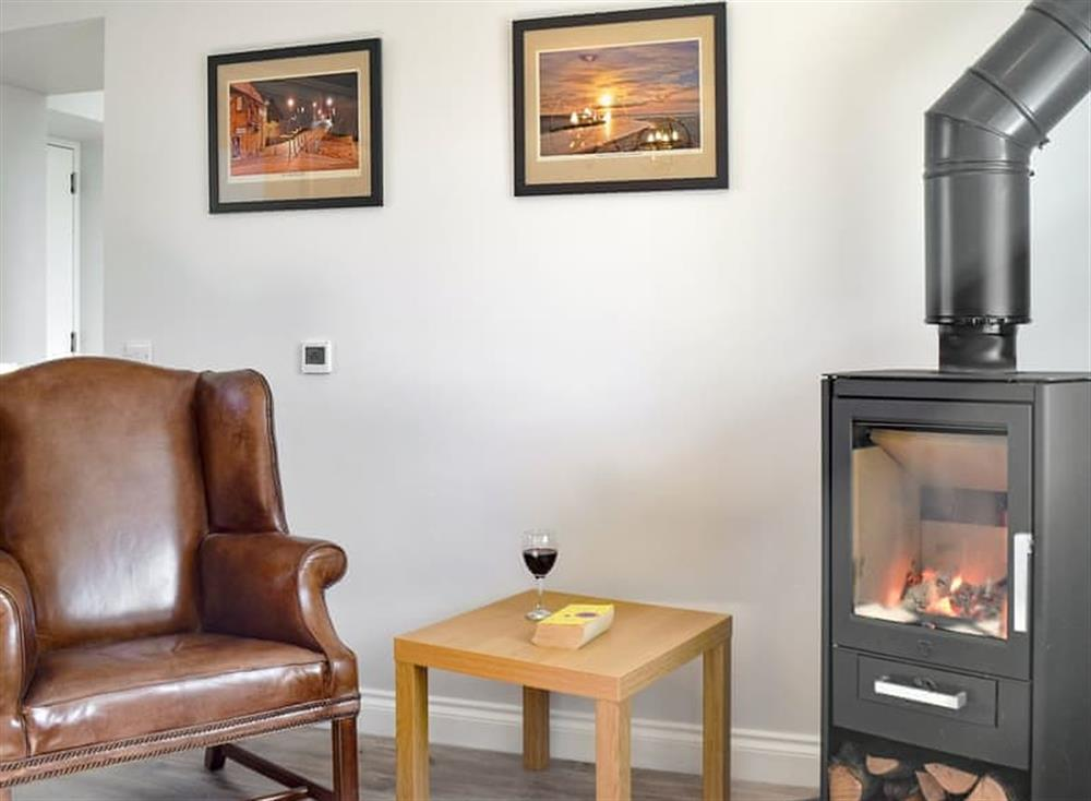 Wood burner in the dining room at Smithfield House in Tarbolton, near Ayr, Ayrshire