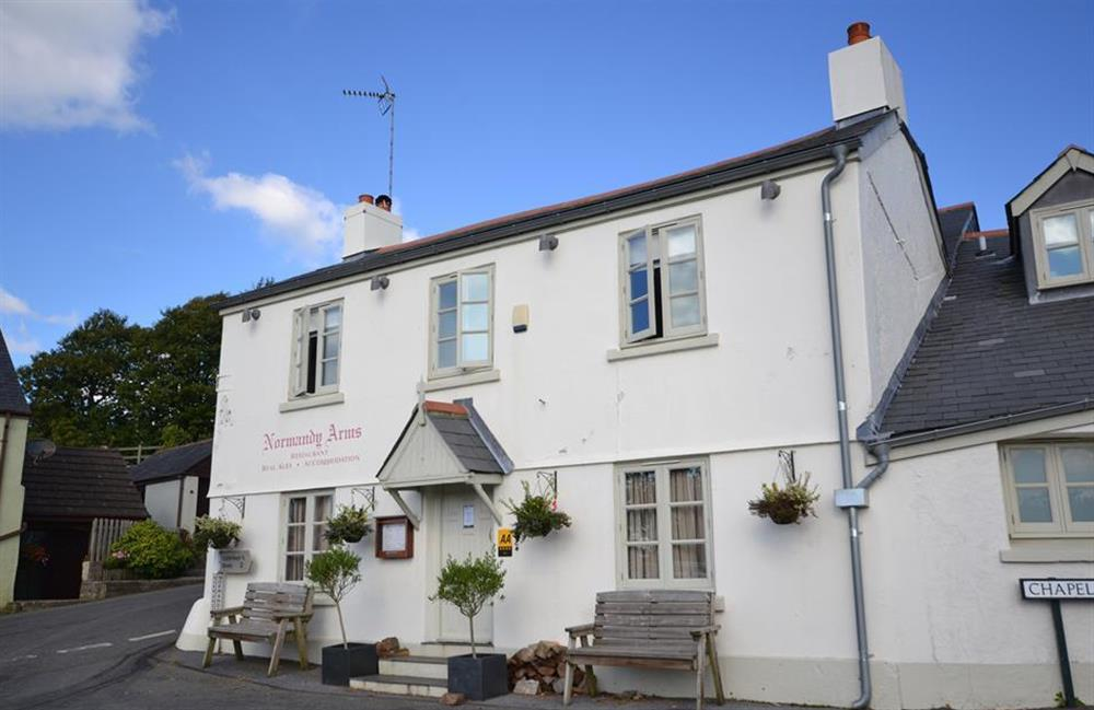 One of the village pubs in Blackawton at Solstice, Blackawton