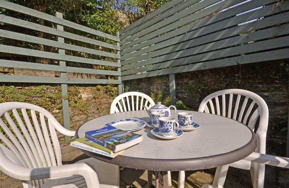 The patio is ideal for enjoying breakfast outside at Solstice, Blackawton