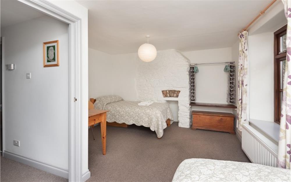 The twin bedroom at Solstice, Blackawton