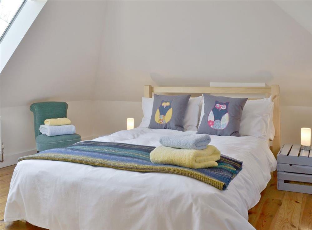 Comfortable double bedroom at Southlake Barn in Dousland, near Yelverton, Devon