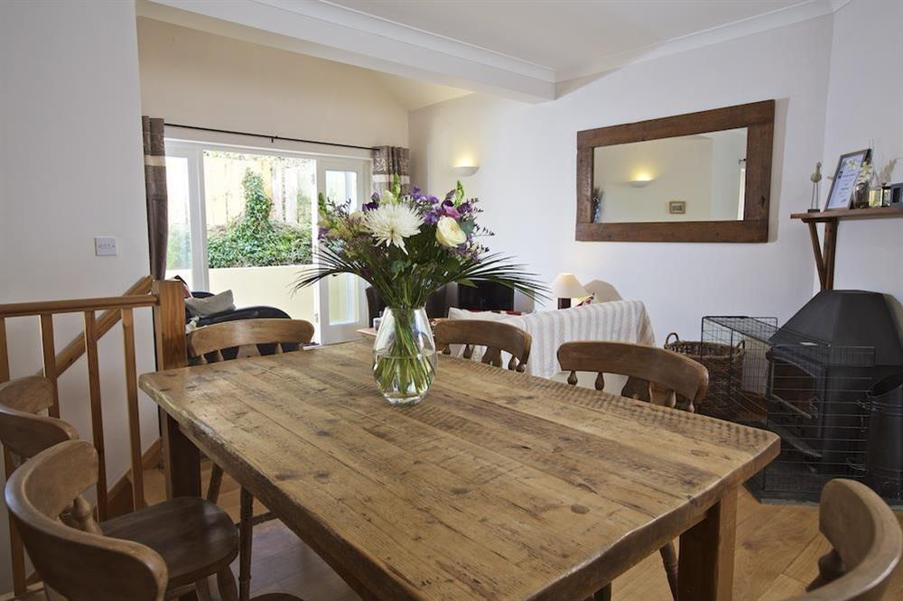 Pine dining table with six chairs at Southview in Blackawton, Nr Dartmouth