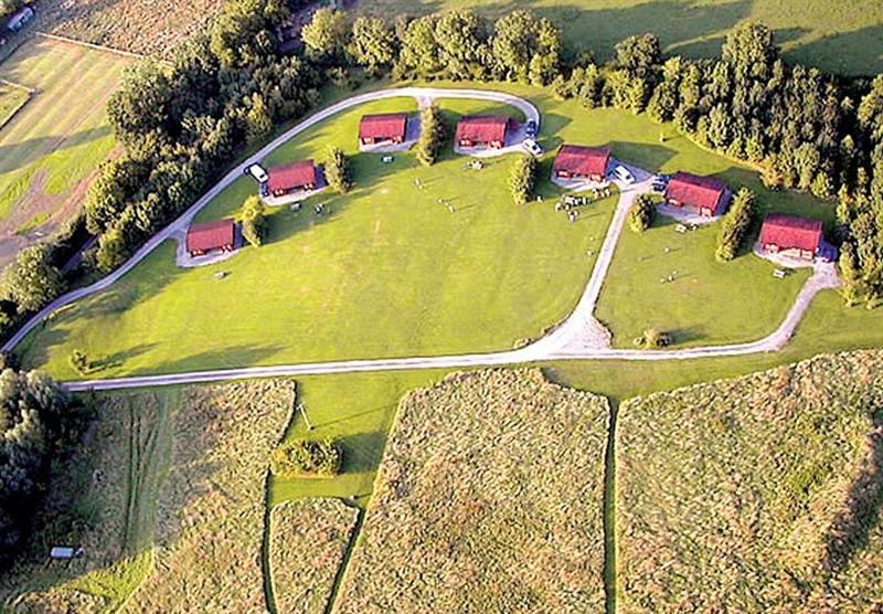 Aerial view at Spindlewood Lodges in Somerset, South West of England