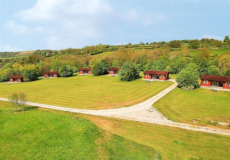 The park setting at Spindlewood Lodges in Somerset, South West of England