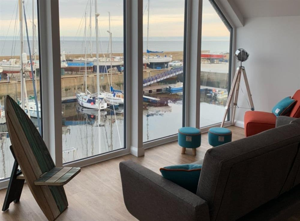 Peaceful views from the seating area at Spinnaker in Lossiemouth, Moray, Morayshire