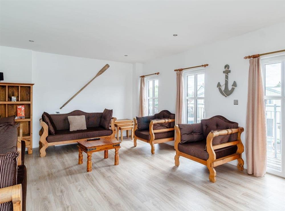 Living room at Spinnaker in Wroxham, Norfolk