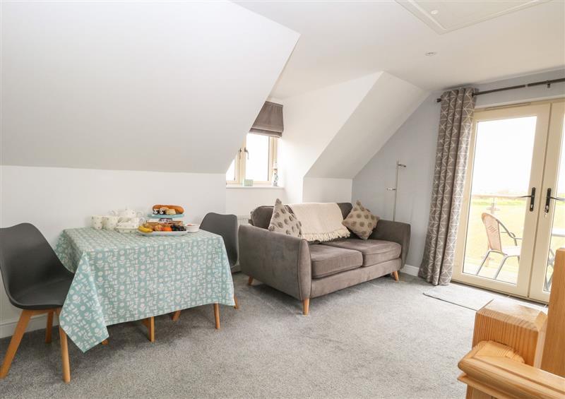 The living area at Spinneys Den, Knapton