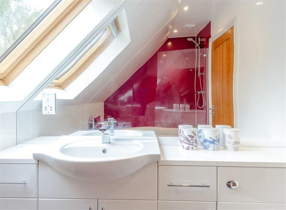 Shower room at Spire View in Near The New Forest, England