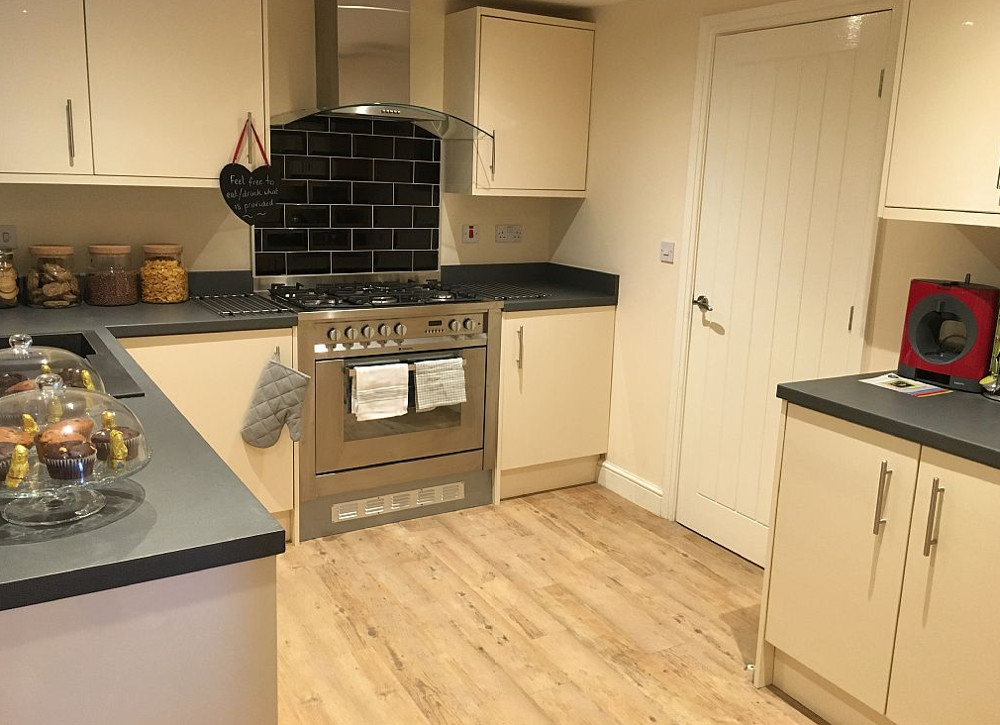 The kitchen at Spring Wood Cottage in Netherton near Holmfirth