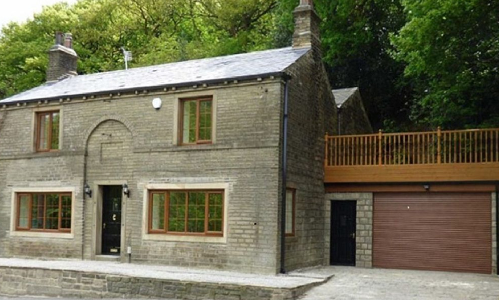 The setting at Spring Wood Cottage in Netherton near Holmfirth