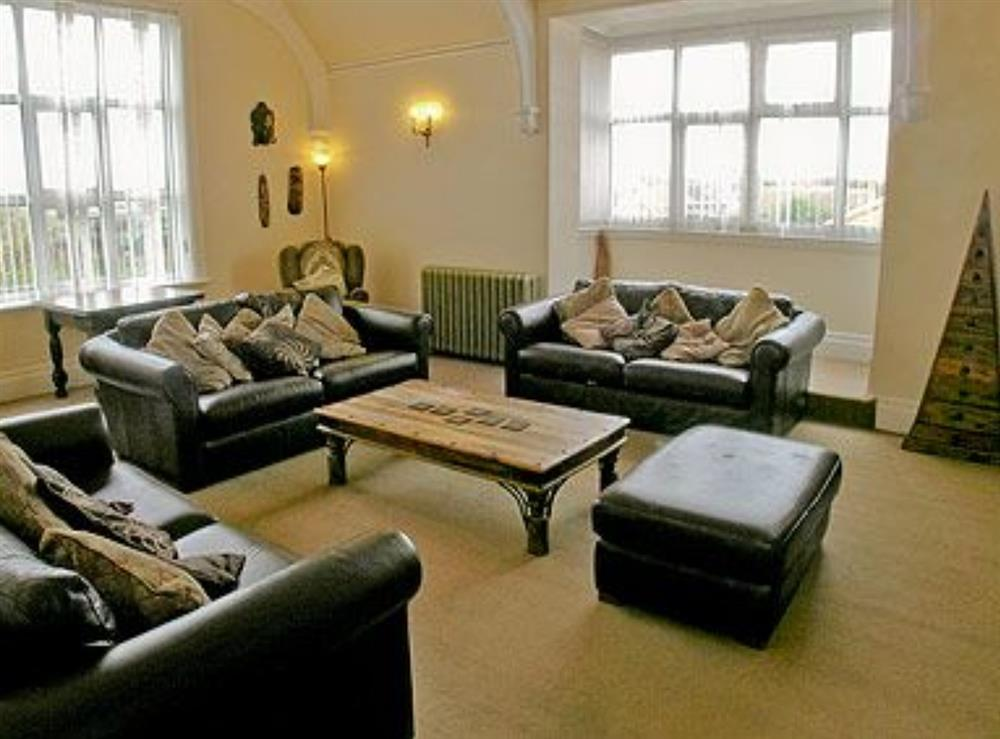 Living room at St. Peters Court in Bacton, Norfolk