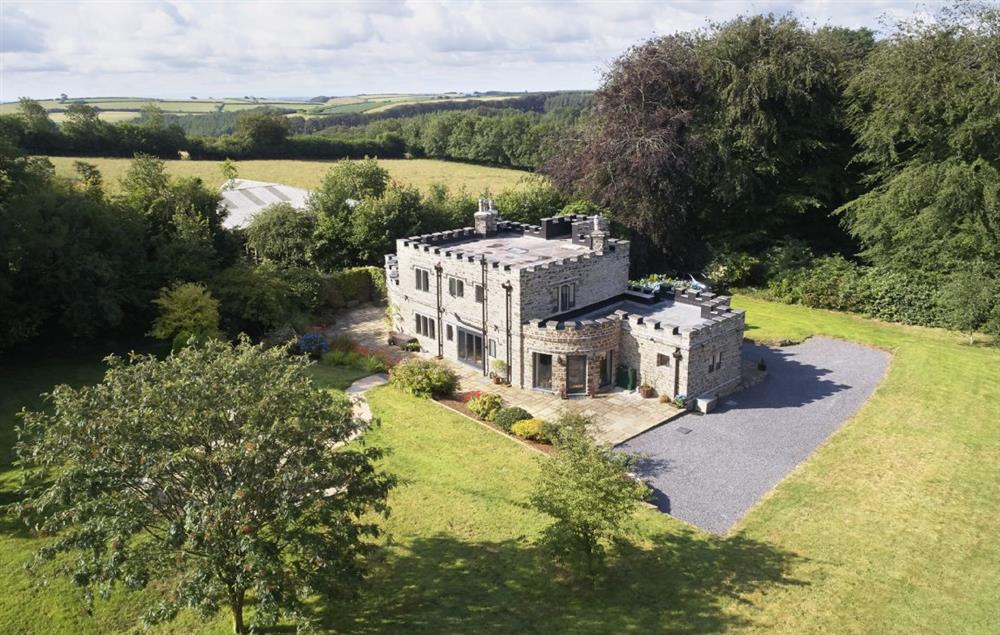 Aerial view of St Petroc and stunning landscape