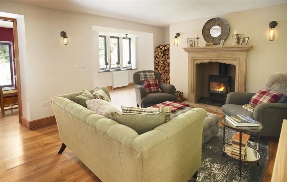Ground floor: Comfortable sitting room with stone fireplace