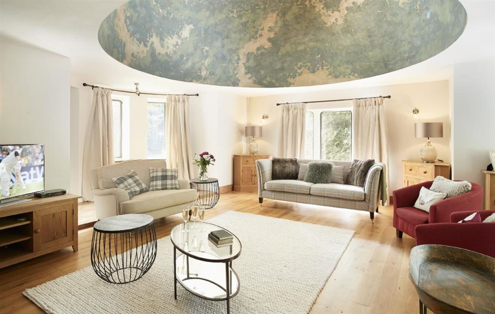 Ground floor: The grand and stately sitting room with an